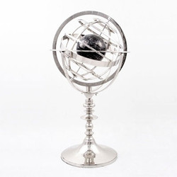 Casa Padrino Luxury Armillary Ball Globus Nickel Finish Silver - Luxury Collection - Art Deco