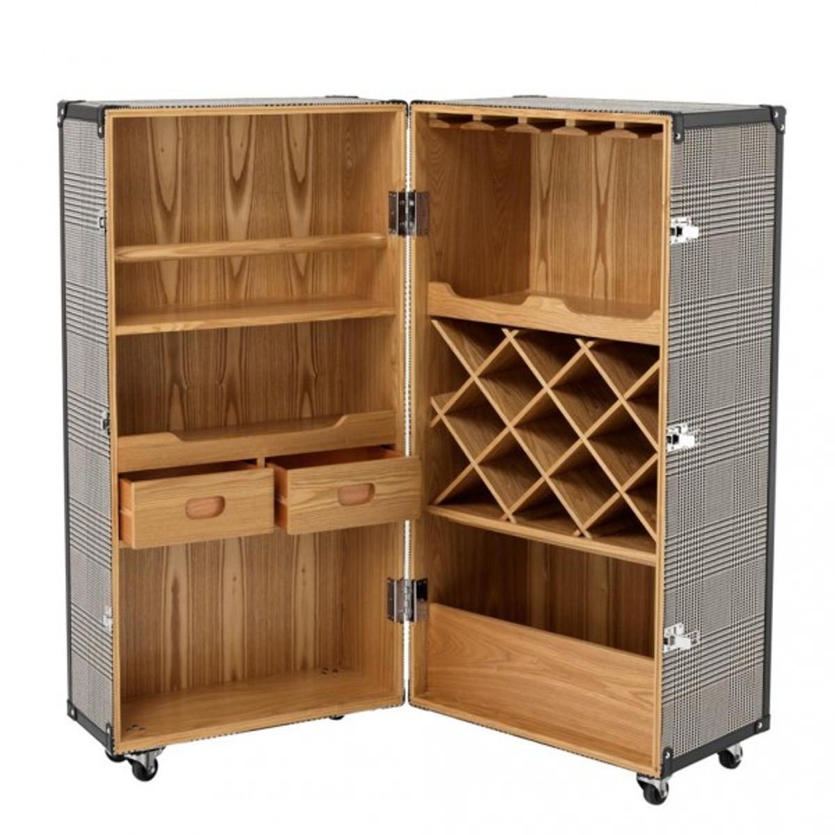 kommode koffer look schrank kommode xxcm shabbylook vintage braun with kommode koffer look. Black Bedroom Furniture Sets. Home Design Ideas