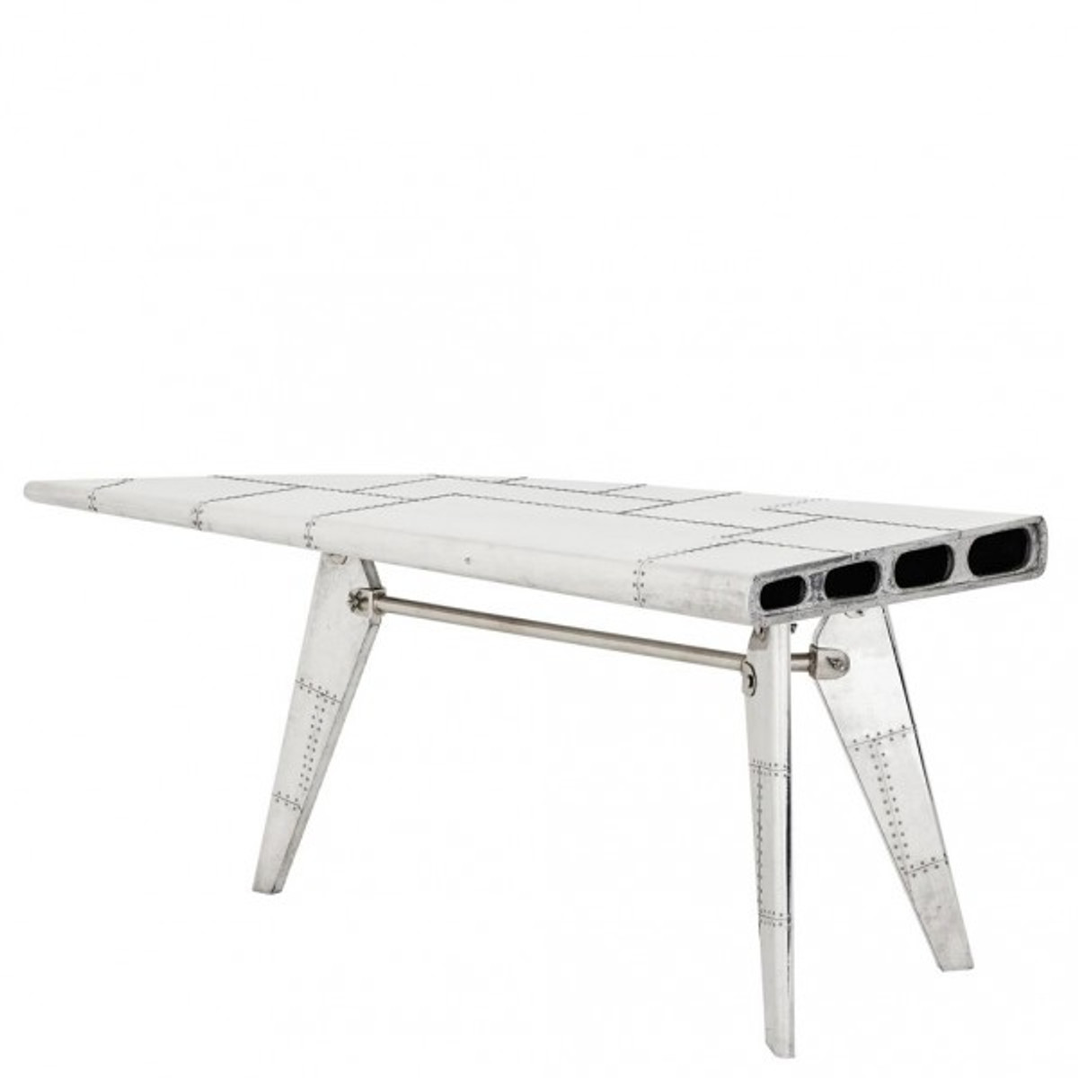 casa padrino luxus designer schreibtisch aircraft wing left aluminium flugzeug flgel art deco vintage - Schreibtisch Aus Flugzeugflgel