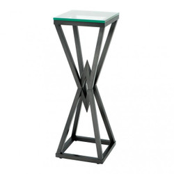 Casa Padrino luxury side table / column stainless steel bronze finish 35 x 35 x H 101 cm - table furniture