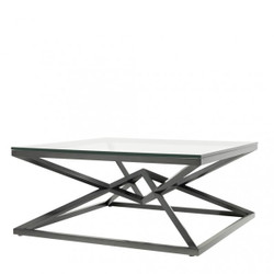 Casa Padrino luxury couch table stainless steel bronze finish 100 x 100 x H. 45 cm - living room table furniture