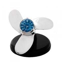 Casa Padrino Designer Luxus Tisch Uhr Marine Schiffsschraube - Eyecatcher Seefahrer Uhr