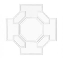 Casa Padrino Designer Luxury Wall Mirror White 80 x H 80 cm - Luxury Hotel Mirror