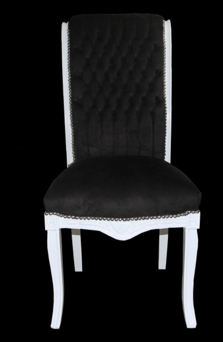 casa padrino barock hochlehner esszimmer stuhl schwarz weiss hochlehnstuhl m bel barock. Black Bedroom Furniture Sets. Home Design Ideas