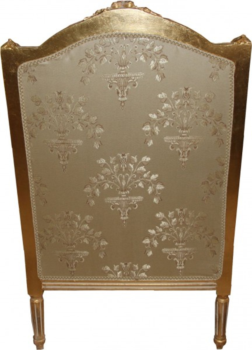 Casa padrino barock lounge thron sessel empire taupe for Ohrensessel taupe