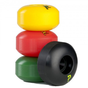 Enuff Skateboard Pro Wheel Set (4 wheels) Rasta - Skateboard Wheels 53mm / 101A – Bild 1