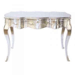Casa Padrino Baroque Desk Secretary / Console Silver 120 x 60 x H80 cm - luxury furniture – Bild 1