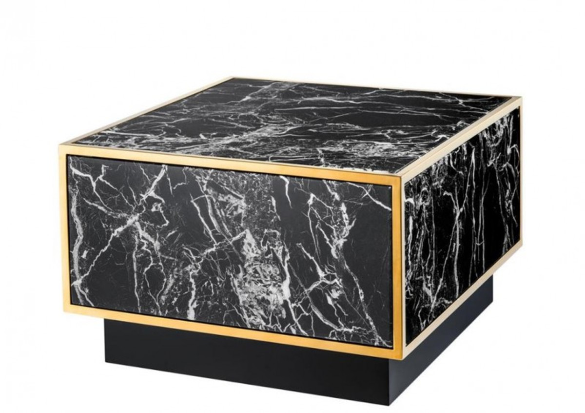 casa padrino art deco luxus couchtisch kunstmarmor gold finish 4er set wohnzimmer salon tisch. Black Bedroom Furniture Sets. Home Design Ideas