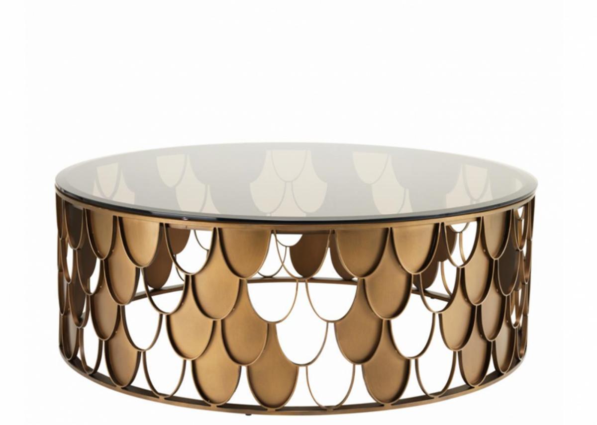 Best Casa Padrino Art Deco Luxus Designer Couchtisch Antik Kupfer  Wohnzimmer Salon Tisch Luxus Mbel With Couchtisch Antik
