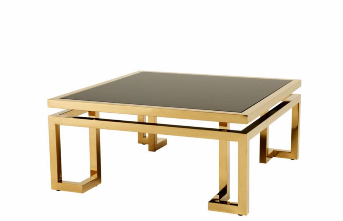 - Casa Padrino Art Deco Luxury Coffee Table Gold With Black Glass