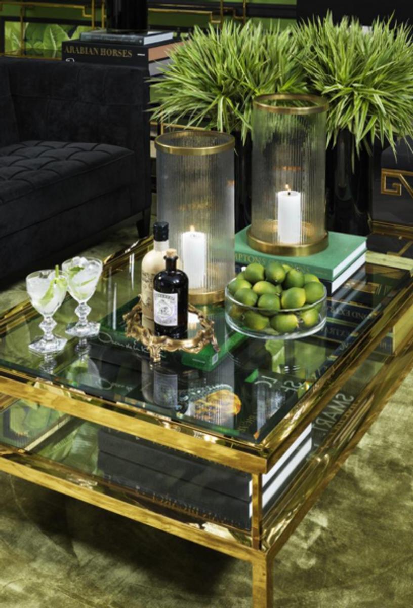 - Casa Padrino Art Deco Luxury Coffee Table Gold 140 X 85 X H. 41 Cm