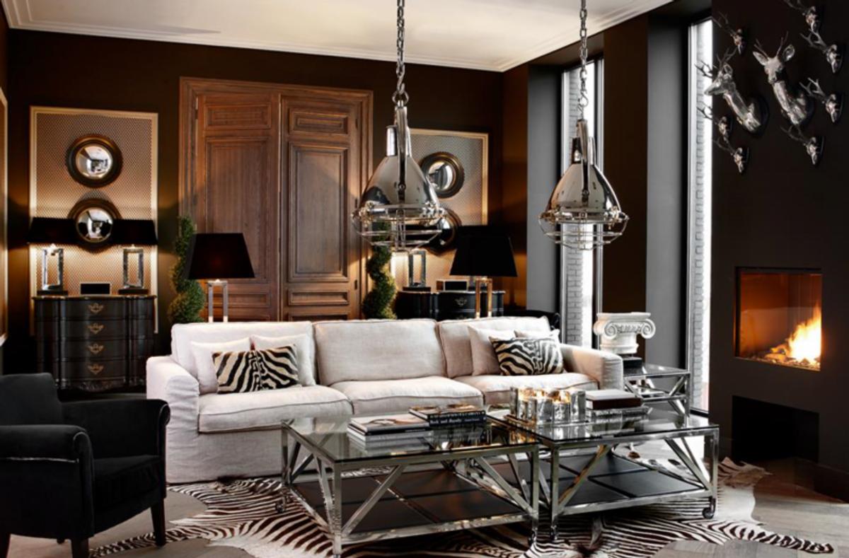 casa padrino luxus art deco designer couchtisch 100 x 100 x h 50 cm wohnzimmer salon tisch. Black Bedroom Furniture Sets. Home Design Ideas