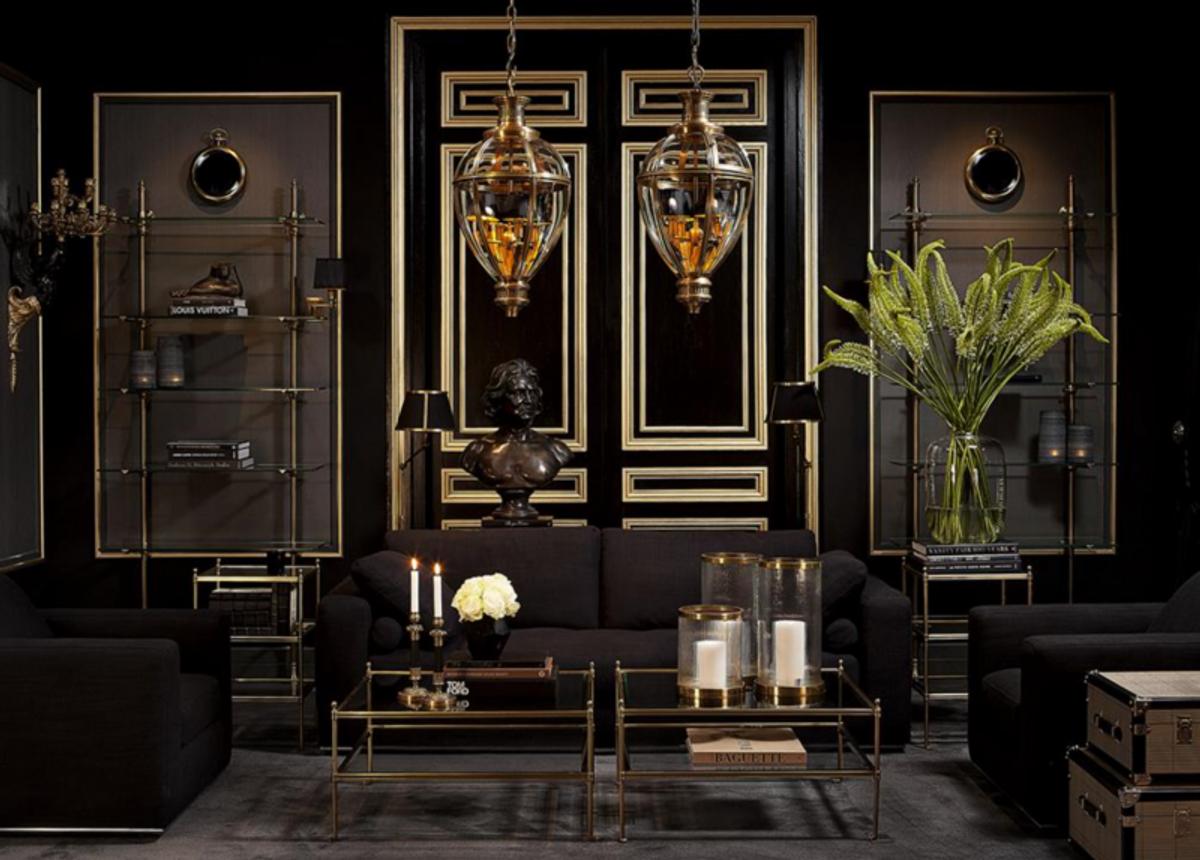 Casa Padrino Luxus Art Deco Designer Couchtisch Messing - Wohnzimmer ...