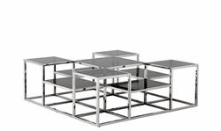 Casa Padrino Art Deco luxury coffee table with smoke glass - living room coffee table - Luxury Collection