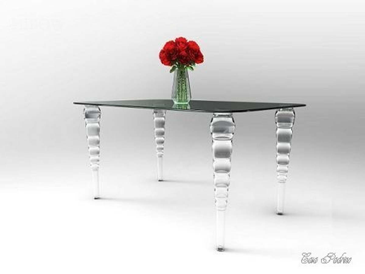 casa padrino glass, polycarbonate and acrylic tables and dining
