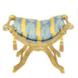 Casa Padrino baroque seat bench gold pattern Colorful / gold cross stool stool