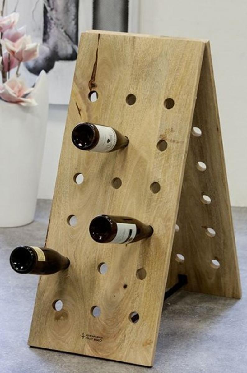 Beliebt Casa Padrino Champagner Flaschen Ständer aus Mango Holz VQ91