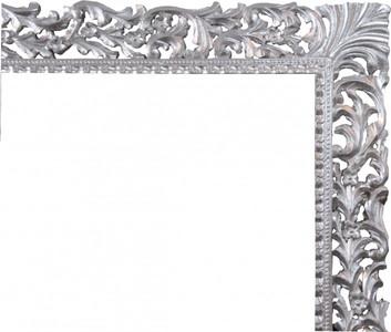Casa Padrino Barock Holz Bilderrahmen 150 x 160 cm Silber - Großer Fernseher Bilder Rahmen - Jugendstil Antik Stil  – Bild 2