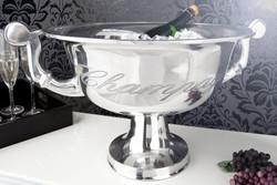 Massiver  Tisch Weinkühler / Sektkühler aus Aluminium H 30 cm B 65 cm aus dem Hause Casa Padrino