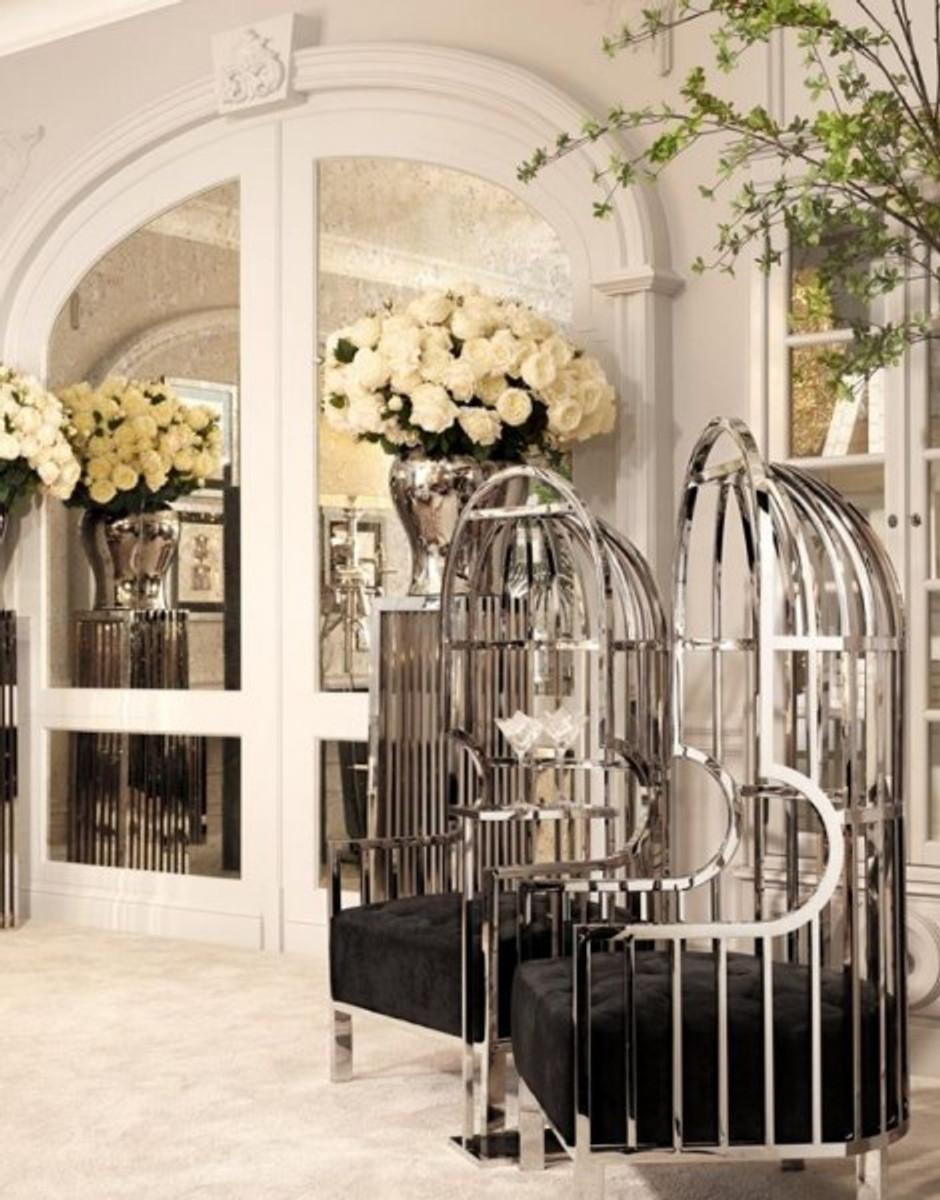 Casa Padrino Luxus Designer Art Deco Salon Sessel - Luxus Kollektion