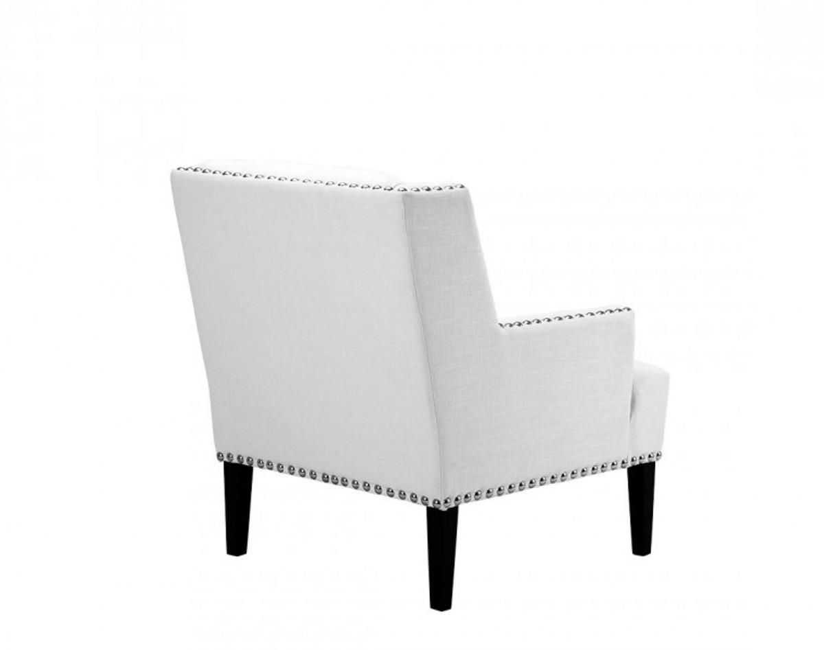 Casa padrino designer art deco club sessel wei luxus for Luxus designer sessel