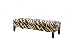 Casa Padrino luxury bench zebra 142 x 51 x H. 40 cm - Luxury Bench