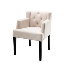 Casa Padrino Luxus Stuhl mit Armlehne - Luxus Stuhl Möbel