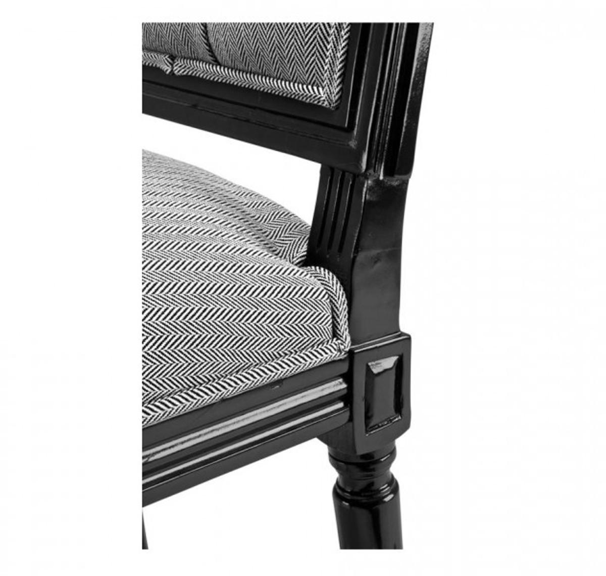 Casa Padrino Luxus Esszimmer Stuhl Schwarz - Club Hotel Möbel Stühle Luxus Stühle Luxus ...