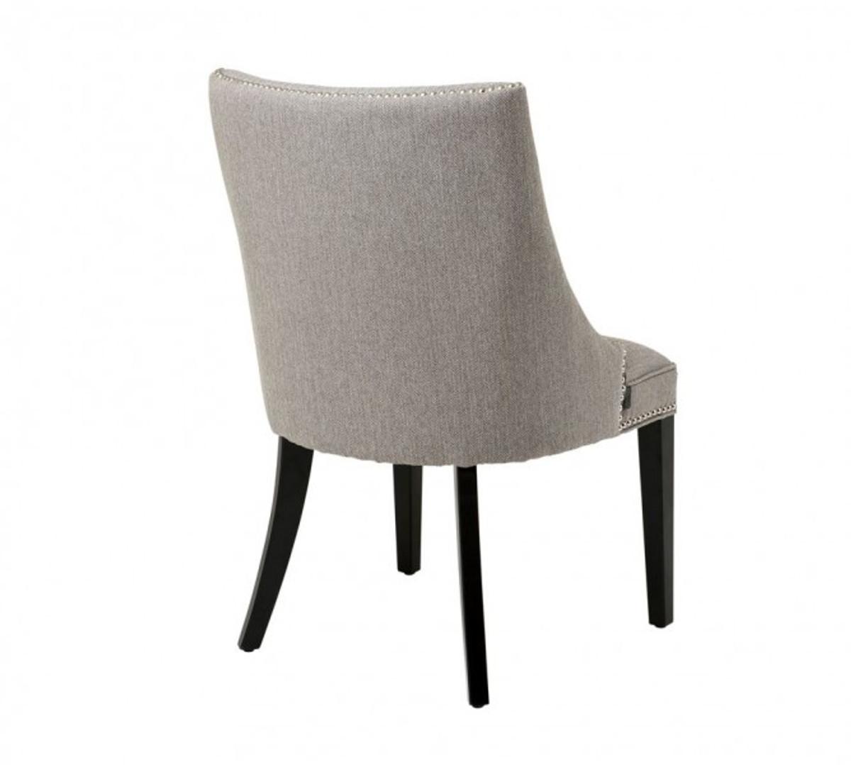 Casa Padrino Luxus Birkenholz Esszimmer Stuhl Graubraun - Luxus Hotel Möbel Stühle Luxus Stühle ...
