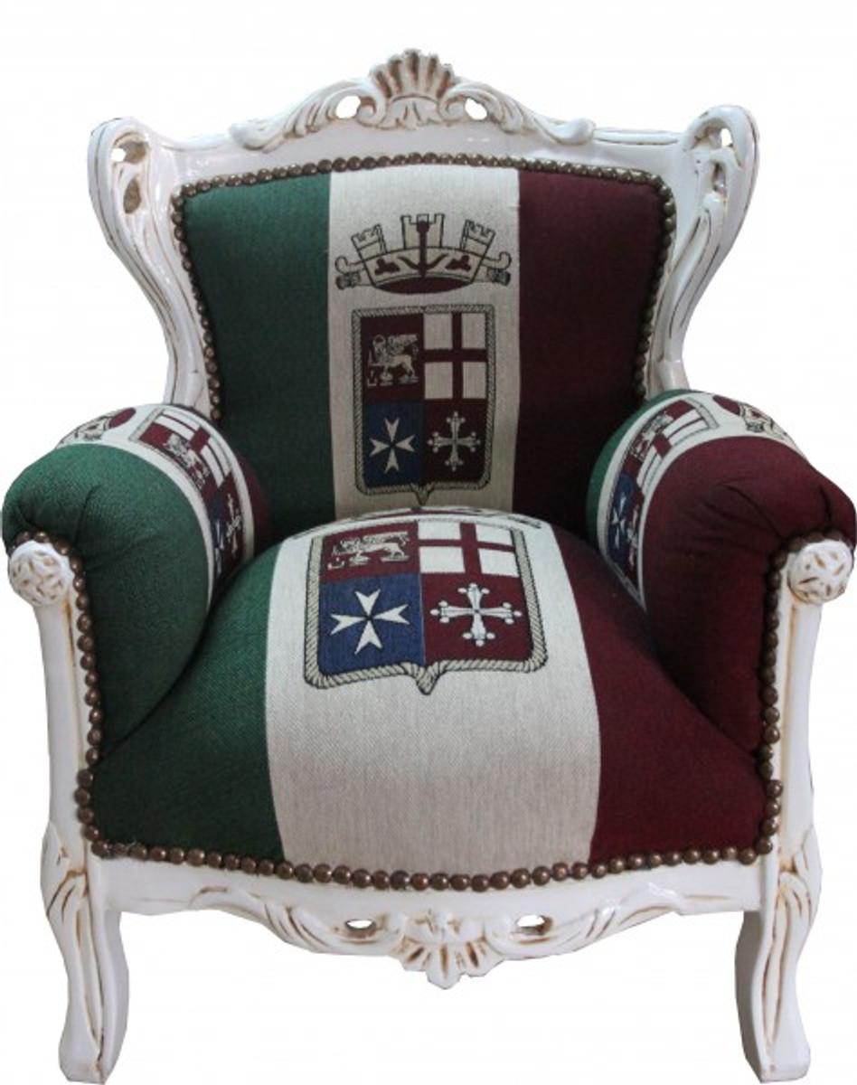casa padrino barock kinder sessel italien creme thron italien italienische flagge tron sessel. Black Bedroom Furniture Sets. Home Design Ideas