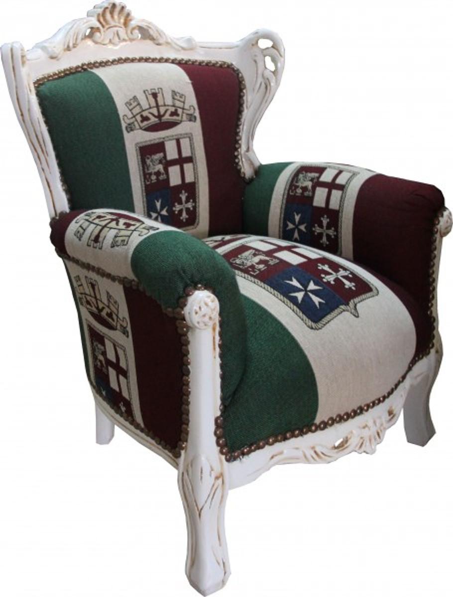 casa padrino baroque children 39 s armchair italy cream. Black Bedroom Furniture Sets. Home Design Ideas