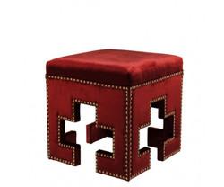 Casa Padrino luxury stool red 41 x 41 x H. 45 cm - Club Hotel Stool