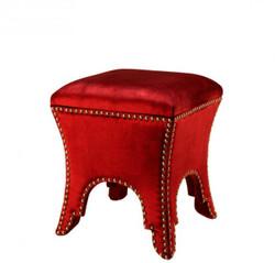 Casa Padrino luxury stool red 39 x 39 x H. 45 cm - Luxury Quality