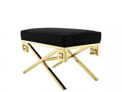 Casa Padrino luxury seat stool gold finish 73 x 41 x H. 45 cm - Vintage Art Deco Furniture