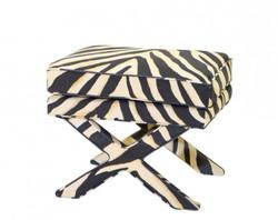 Casa Padrino luxury seat stool zebra 62 x 46 x H. 50 cm - Luxury Stool