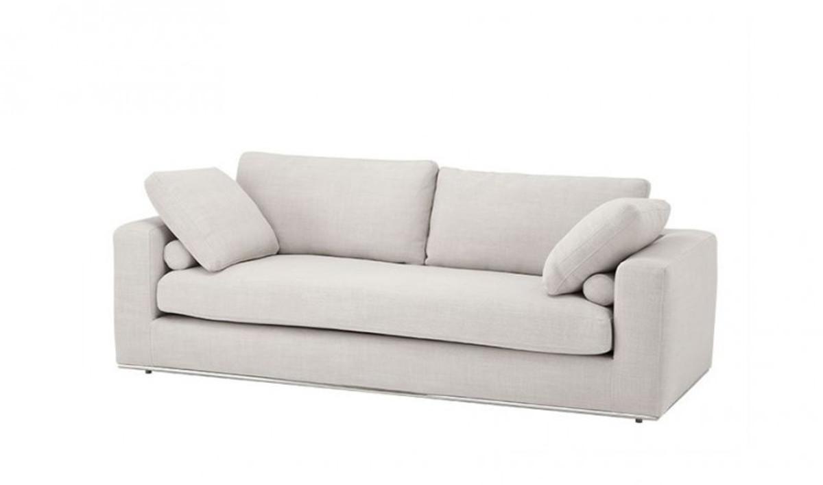 casa padrino luxus sofa panama natural mit poliertem stahl sockel luxus kollektion sofas luxus. Black Bedroom Furniture Sets. Home Design Ideas