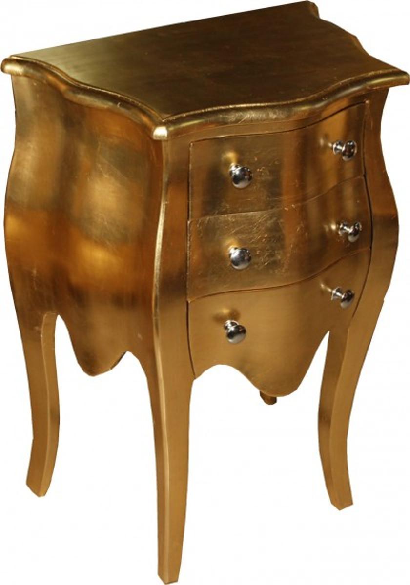 Casa Padrino Barock Kommode Gold H 70 Cm B 50 Cm Mod2 Nachttisch