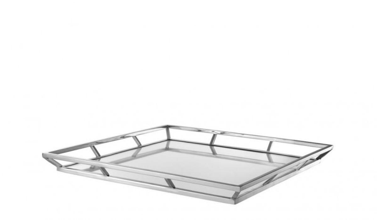 casa padrino luxus designer edelstahl tablett nickel finish 50 x 50 x h 4 5 cm luxus. Black Bedroom Furniture Sets. Home Design Ideas