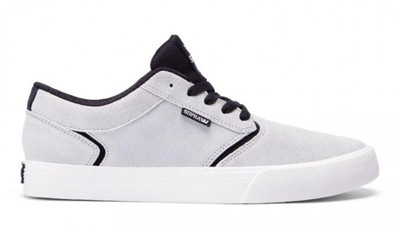 SUPRA Skateboard Schuhe Shredder Light Grey Black