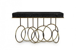 Luxury Designer Console Burlesque Black Gold