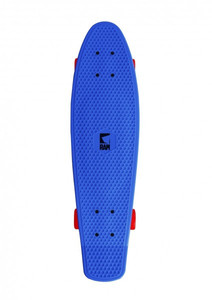 RAM Oldschool Skateboard Plastic Cruiser Retro 70s Blue / Red - 27 inch - Plastic skateboard with Koston ball bearings – Bild 2