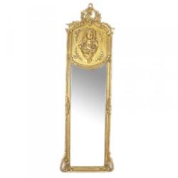 Casa Padrino Luxus Barock Wandspiegel Madonna Gold 175 x 55 cm - Massiv und Schwer - Antik Stil Spiegel