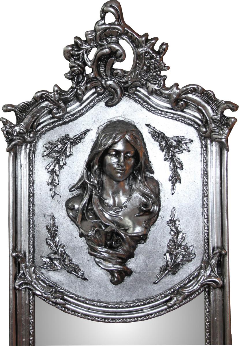 Casa padrino luxus barock wandspiegel madonna silber 175 x 55 cm massiv und schwer antik - Barock wandspiegel silber ...