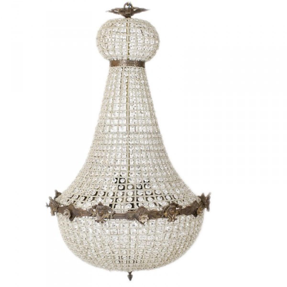 casa padrino luxus barock decken h ngeleuchte 60 x h 110 cm glas oxide leuchten l ster. Black Bedroom Furniture Sets. Home Design Ideas