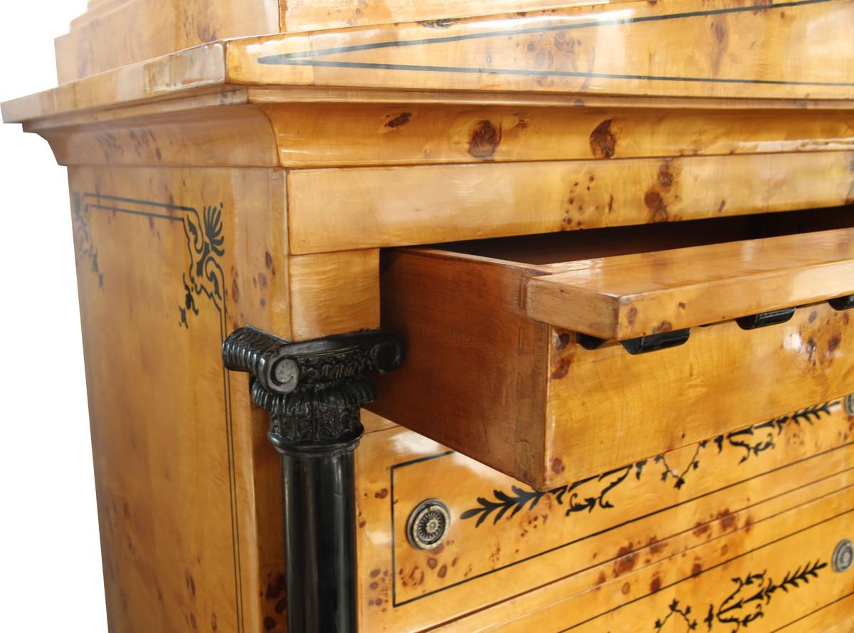 Was Ist Ein Biedermeier casa padrino deco schubladen schrank vogelaugenahorn handgefertigt biedermeier möbel