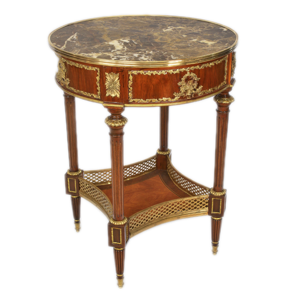Casa padrino barock beistelltisch mit marmorplatte luxus for Beistelltisch marmorplatte