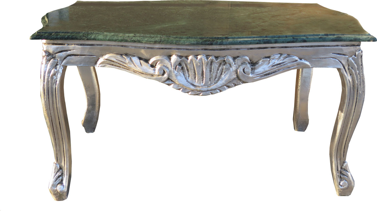 Baroque couches and sumptuous salon living room tables in gold casa padrino baroque coffee table silver with a green marble top 99 x 63 cm geotapseo Image collections