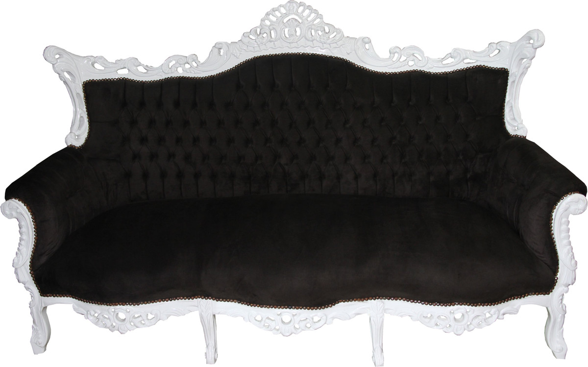 Bezaubernd 3 Er Sofa Referenz Von Casa Padrino Baroque Seater Master Black /