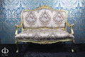 Casa Padrino Baroque sofa cream pattern / Gold - Italian style - baroque furniture - sumptuous and extraordinary!