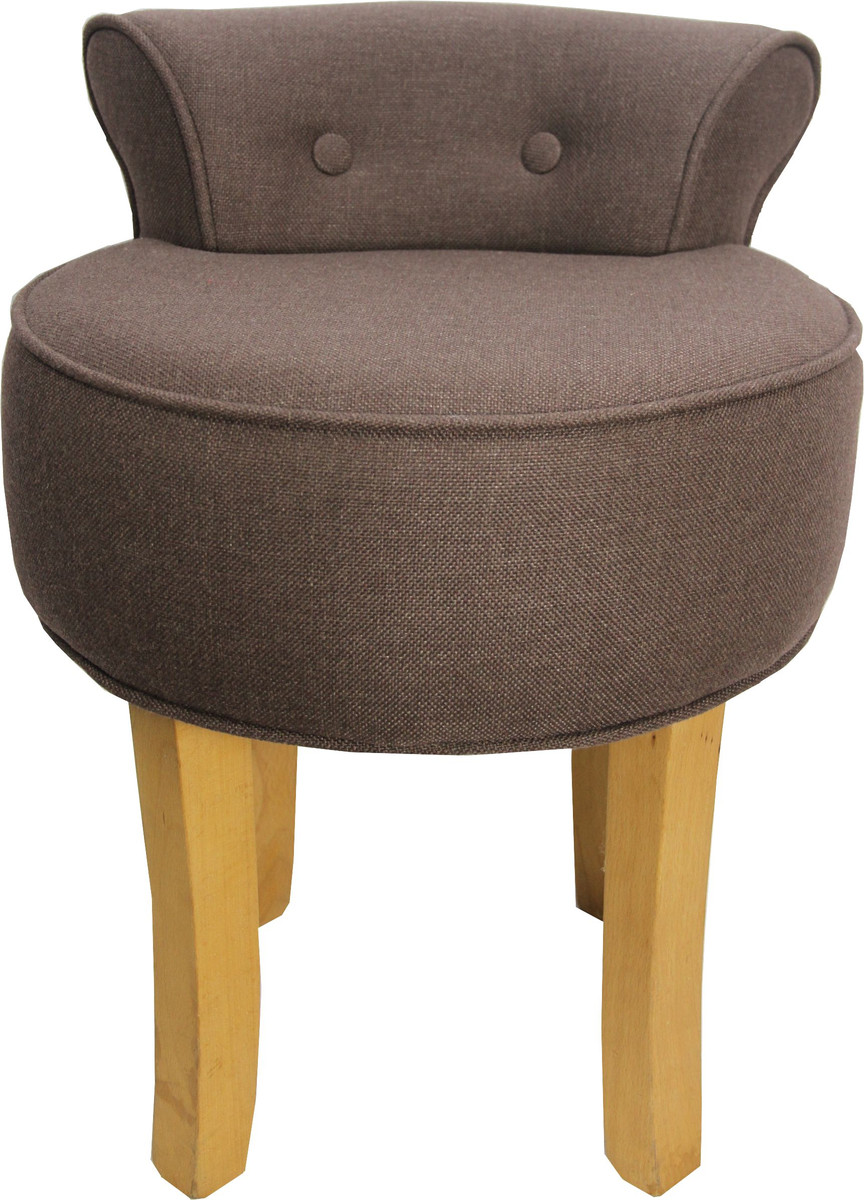 casa padrino designer hocker boston mittelbraun barock schminktisch stuhl hocker luxus hocker. Black Bedroom Furniture Sets. Home Design Ideas